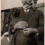 James Kilpatrick with monkey 1921