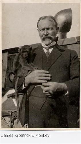 James Kilpatrick with monkey 1921