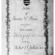 Title Page to the Index of Persons and Places in Hungerfordiana