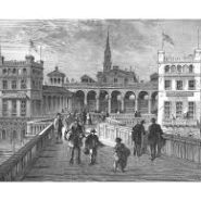 Hungerford Market from Hungerford Bridge 1850