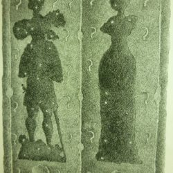 Drawings of the effigies of Walter & Catherine Peverell